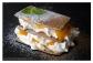 Hojaldre de queso fresco y melocotón