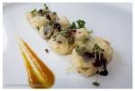 Caballa en adobo y tempura