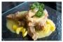 Costillas de cerdo con mango y mostaza