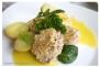 Solomillo con costra de cuscus y salsa de hinojo